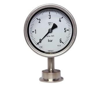 Edelstahl Manometer mit Tri-Clamp Anschluss
